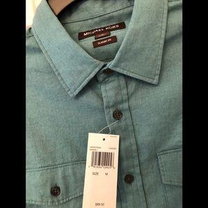 Michael Kors Men's Green Button Down Shirt